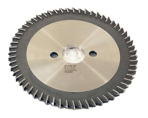 HSS Slitting Saw Blade 7in x 9/32in (177.8mm x 7.14mm)